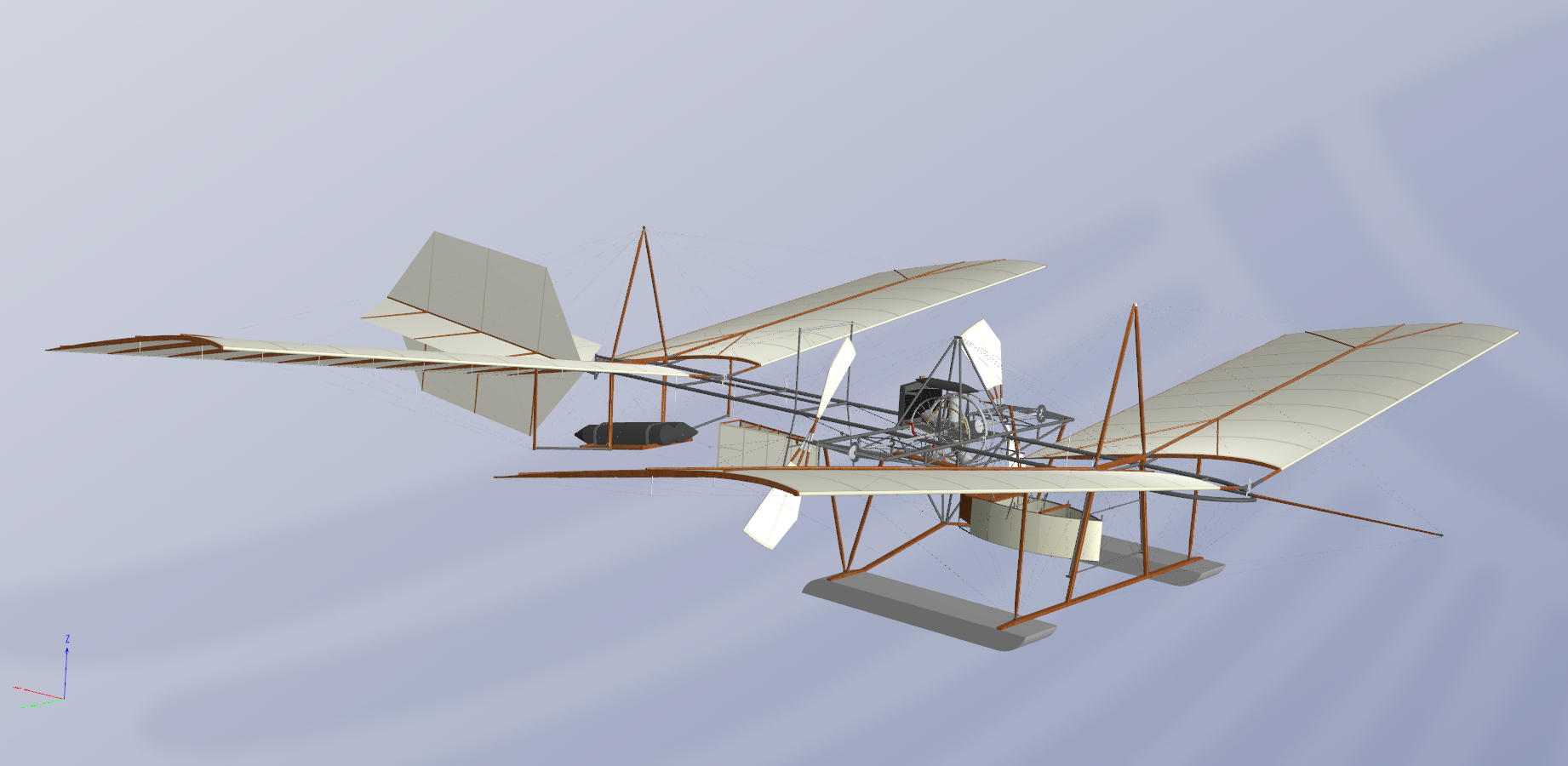 comparing the 1903 and 1914 aerodromes