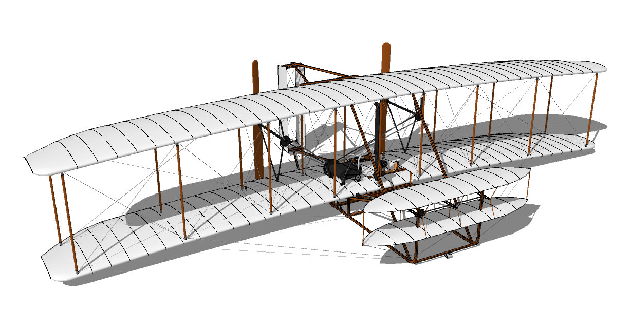 Wright Brothers Plane Diagram