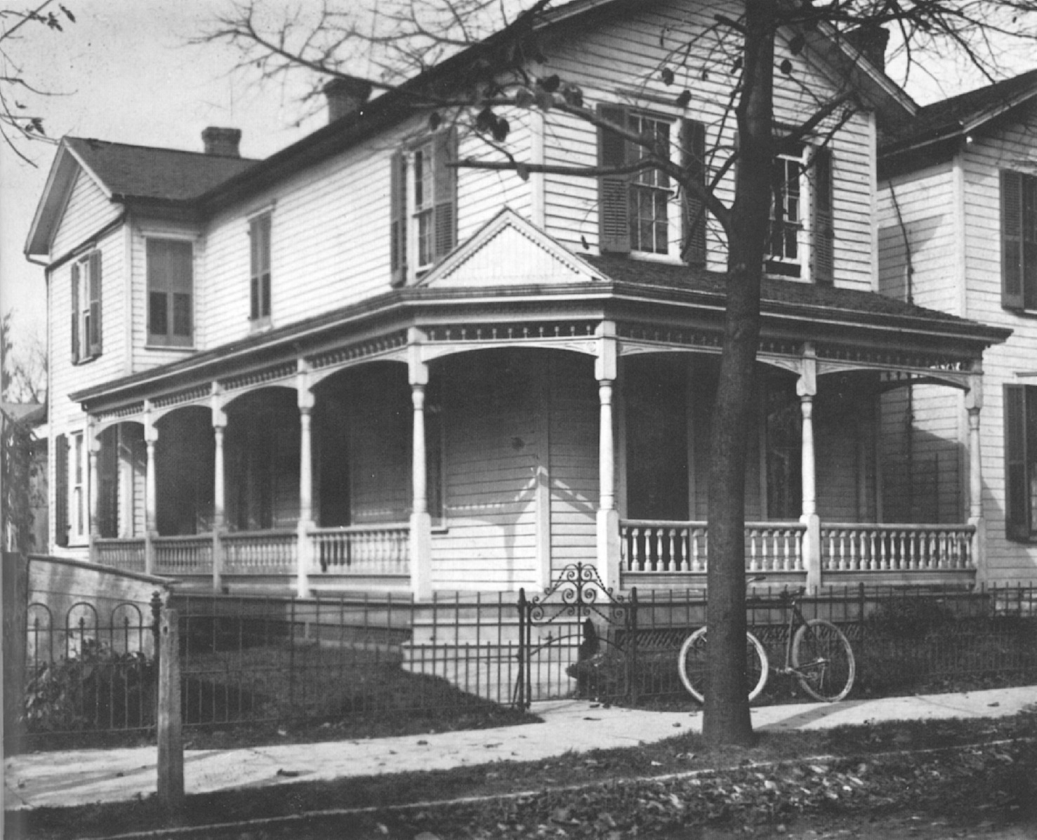 1898    The Wright home at 7 Hawthorne Street in Dayton  Ohio  Both the home  and the bicycle shop were later moved to Greenfield Village at the Henry  Ford. Wright Photos