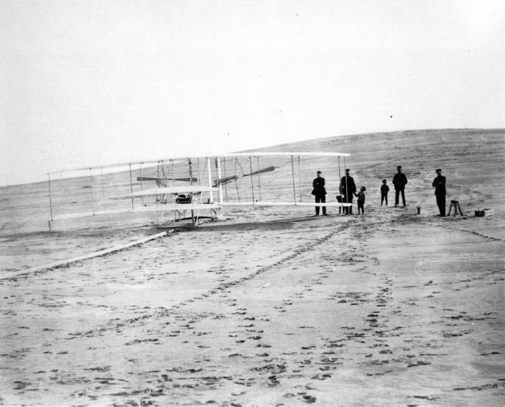 First Flight Kitty Hawk 1903 intended for wright photos