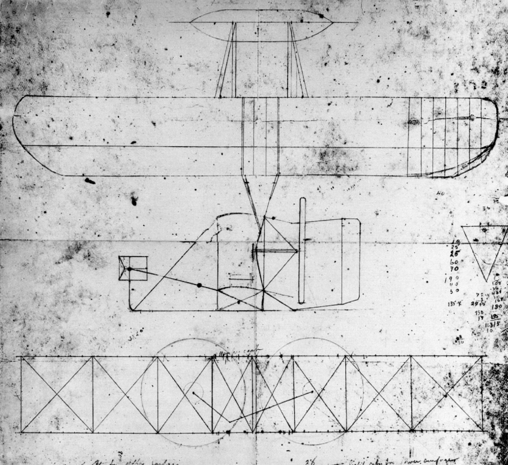 how to draw the first airplane