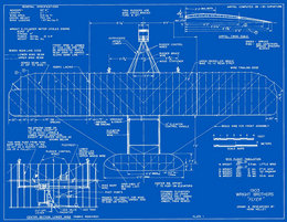 Wright plans blueprints measured drawings of the 1903 wright flyer plate 1 top view based on the christman drawings malvernweather Gallery