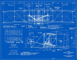 Wright plans blueprints measured drawings of the 1903 wright flyer plate 2 front and side views based on the christman drawings malvernweather Choice Image