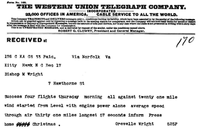 Marconi Form  Telegrams